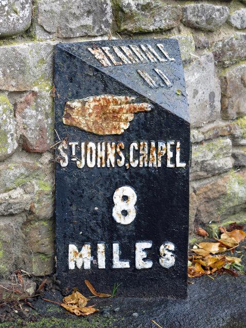 Milestone, East End (A689) / Bondisle Way (3)