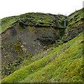 NY9018 : Green waterfall, White Hill by Andy Waddington