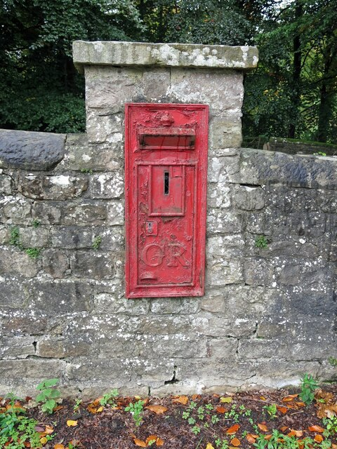 George V postbox (out of use), Aske Bridge