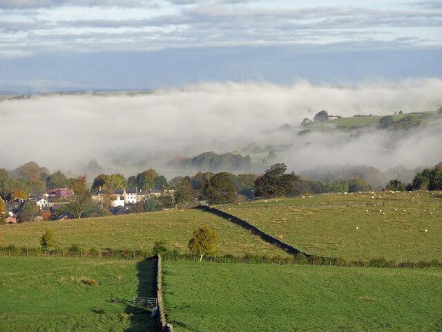 Morning mist in East Allen Dale