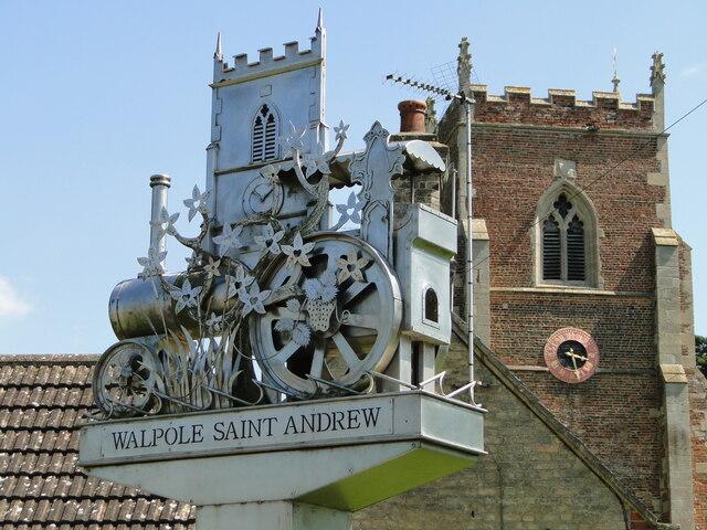 Walpole St. Andrew village sign