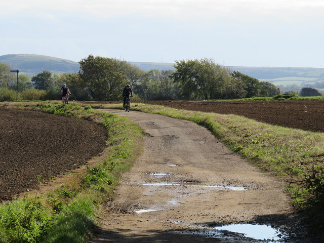 Cyclists on the Red Squirrel Trail, near Newport