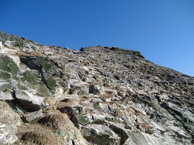 Towards the summit of Stac Lee