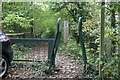 ST2091 : Squeeze stile behind Railway Cottages by M J Roscoe
