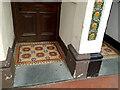 SS5633 : Tiles at entrances, Bear Street, Barnstaple by Robin Stott