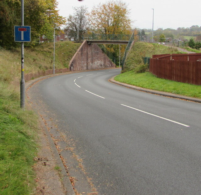 No Through Road sign, Pilton Vale, Newport