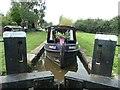 SJ9131 : Narrowboat in Aston Lock [no 26] by Christine Johnstone