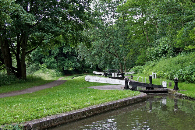 Falling Sands Lock near Kidderminster in Worcestershire
