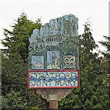 TM0434 : Stratford  St. Mary village sign by Adrian S Pye