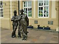 SD2878 : Laurel and Hardy statue, Ulverston by Stephen Craven