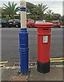 TV6198 : Anonymous Postbox, King Edward's Parade, Eastbourne by PAUL FARMER