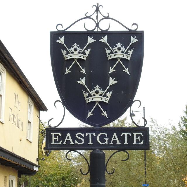Bury St Edmunds, Eastgate sign