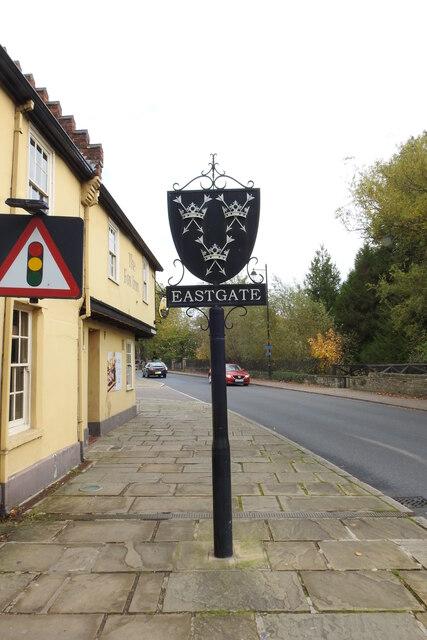Bury St. Edmunds, Eastgate sign