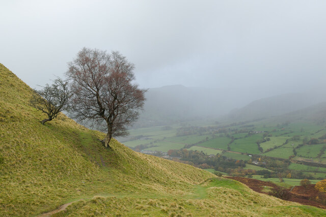 Two hardy trees and an approaching hail storm, Backtor Nook