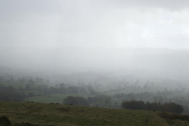 A receding hail storm viewed from Backtor Nook