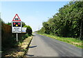 TF6111 : Approaching the level crossing on St Peters Road, Watlington by JThomas