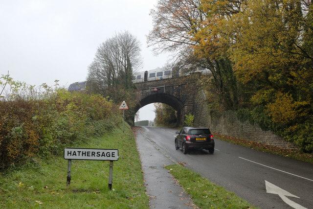 The B6001 entering Hathersage