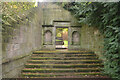 SK4635 : Garden Gateway at Risley Hall, Derbyshire by Andrew Tryon