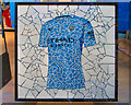 SJ8398 : 50 Windows of Creativity #27, Football Shirt Mosaic by David Dixon