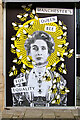 SJ8398 : 50 Windows of Creativity #21, Manchester's Queen Bee by David Dixon
