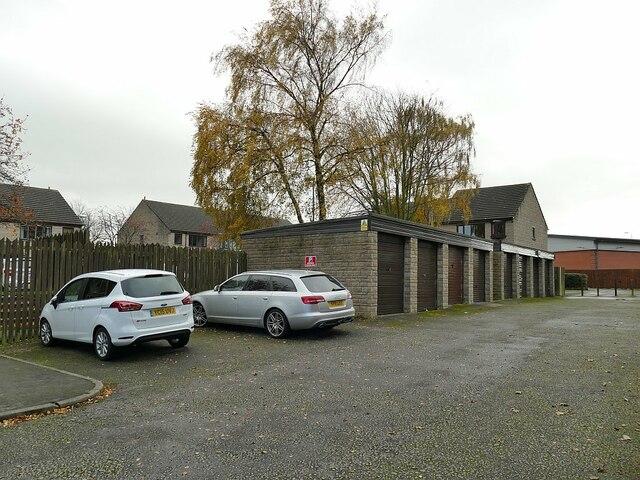 Car park and garages for Osbourne Court, Bramley