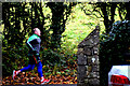 H4772 : Jogger along Riverview Road, Cranny by Kenneth  Allen