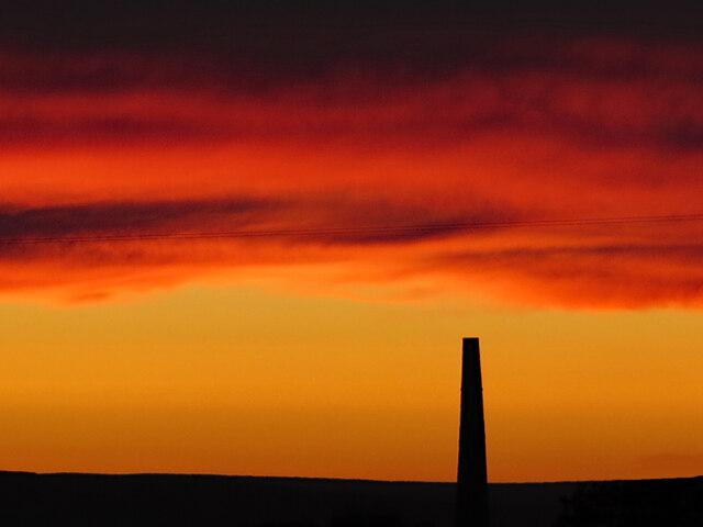 Stublick chimney at sunset