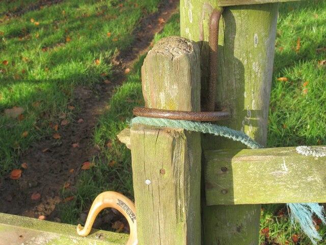 Detail of wicket-gate on Allanshaws near Lauder