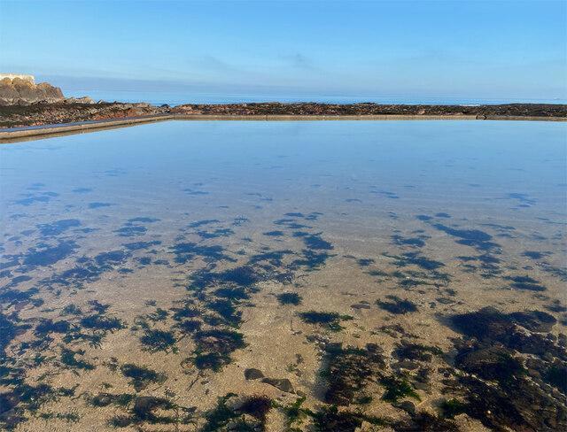 Tidal boating pond, North Berwick