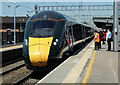 SU5290 : Class 800 at Didcot Station by Mary and Angus Hogg