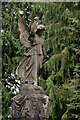 NY9863 : Stone Angel at Corbridge Cemetery, Northumberland by Andrew Tryon