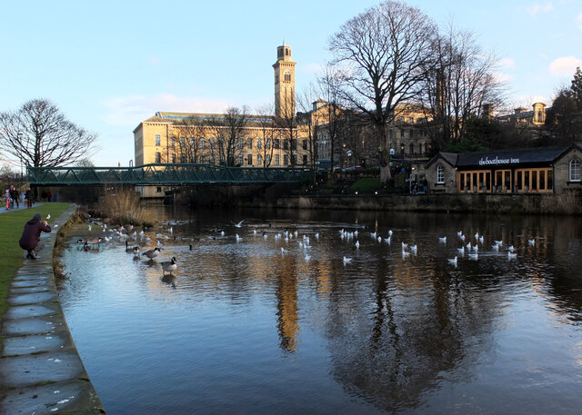 The River Aire at Roberts Park