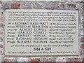 SE9839 : WW1  Memorial  Plaque.  Bishop  Burton by Martin Dawes