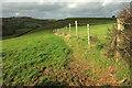 SX7757 : Fence above the Harbourne valley by Derek Harper