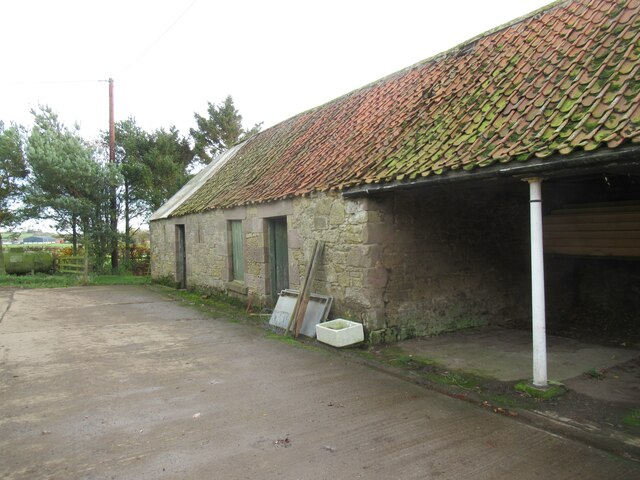 Traditional farm steading buildings on West Newton
