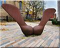 SJ8298 : Irwell Sculpture Trail - The Seed in Salford by David Dixon