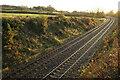 SX6456 : Railway from Stowford Bridge by Derek Harper