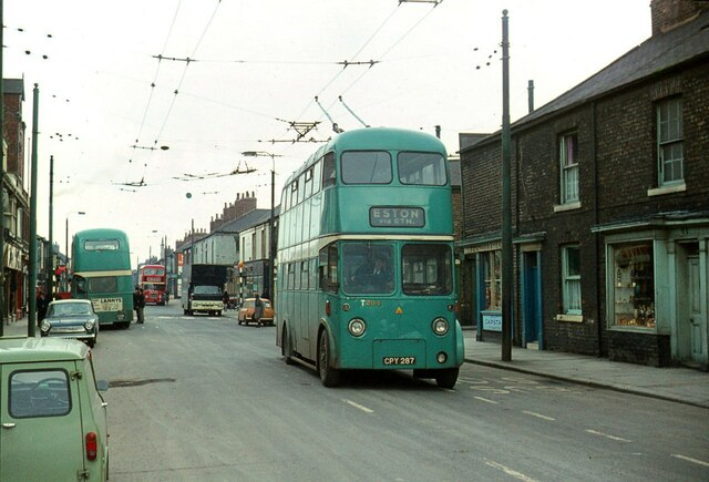 Teesside trolleybus T294 at North Ormesby – 1971