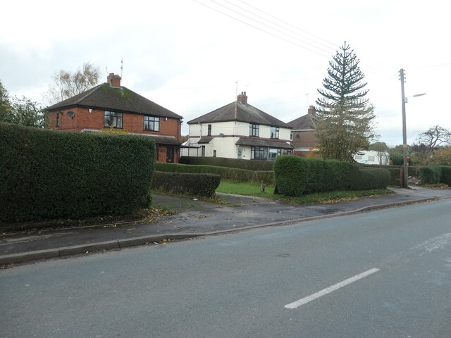 Houses on the west side of Sandon Road, Cresswell