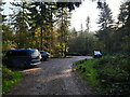 TG3131 : Bacton Wood carpark by David Pashley