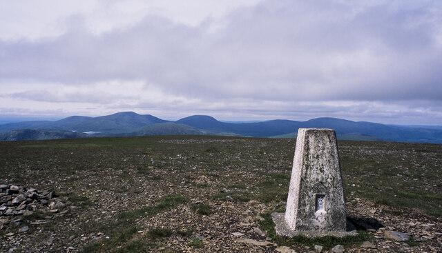Barren summit area of Corserine