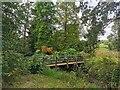 TQ6723 : Foot Bridge in Garden at Bateman's by PAUL FARMER