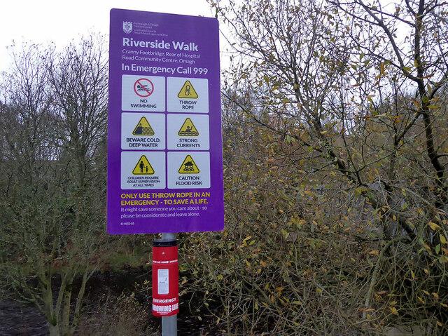 Notice, Cranny Footbridge Rear of Hospital Road Community Centre