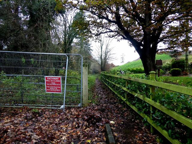 Closed path at Creevenagh / Campsie