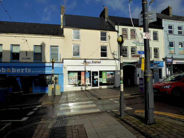 Light and shade, High Street, Omagh