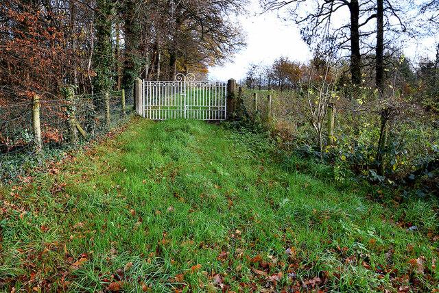 Locked gates along Crevenagh Road