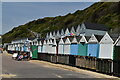 SZ1191 : Beach huts by N Chadwick