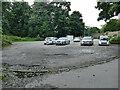 SE2338 : Western car park, Horsforth Hall Park by Stephen Craven