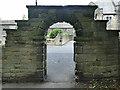 SE2337 : Hall Lane gate, Horsforth Hall Park by Stephen Craven
