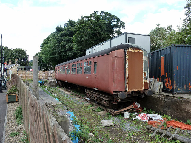 Ex-BR MkII carriage at Stanhope